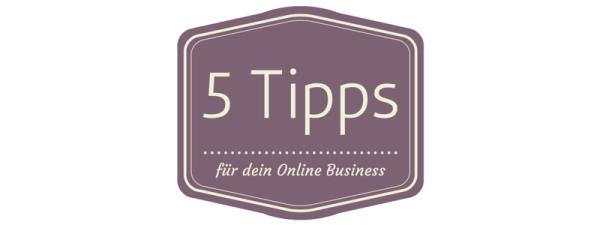 Online Business Tipps