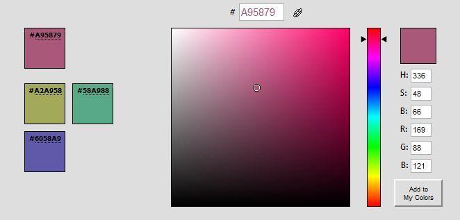 Farben auswählen für Webseite