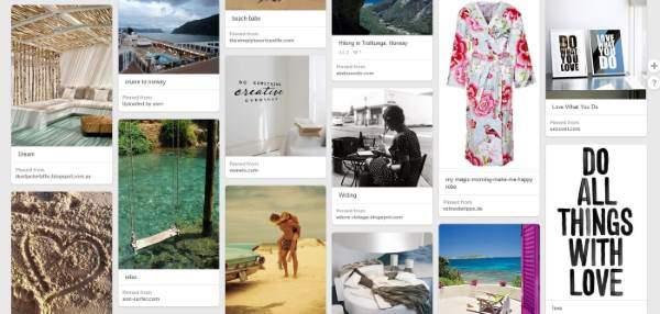 Vision board Pinterest