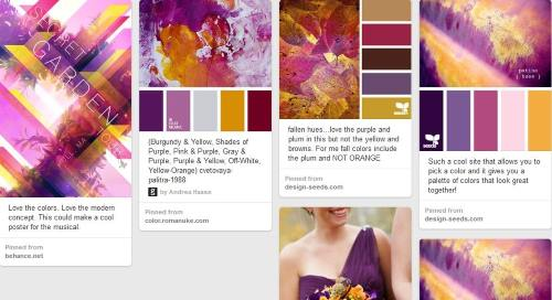 Moodboard purple gold