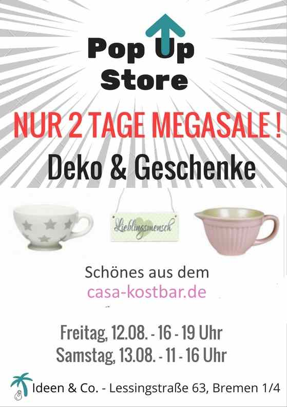 pop up store werbung flyer